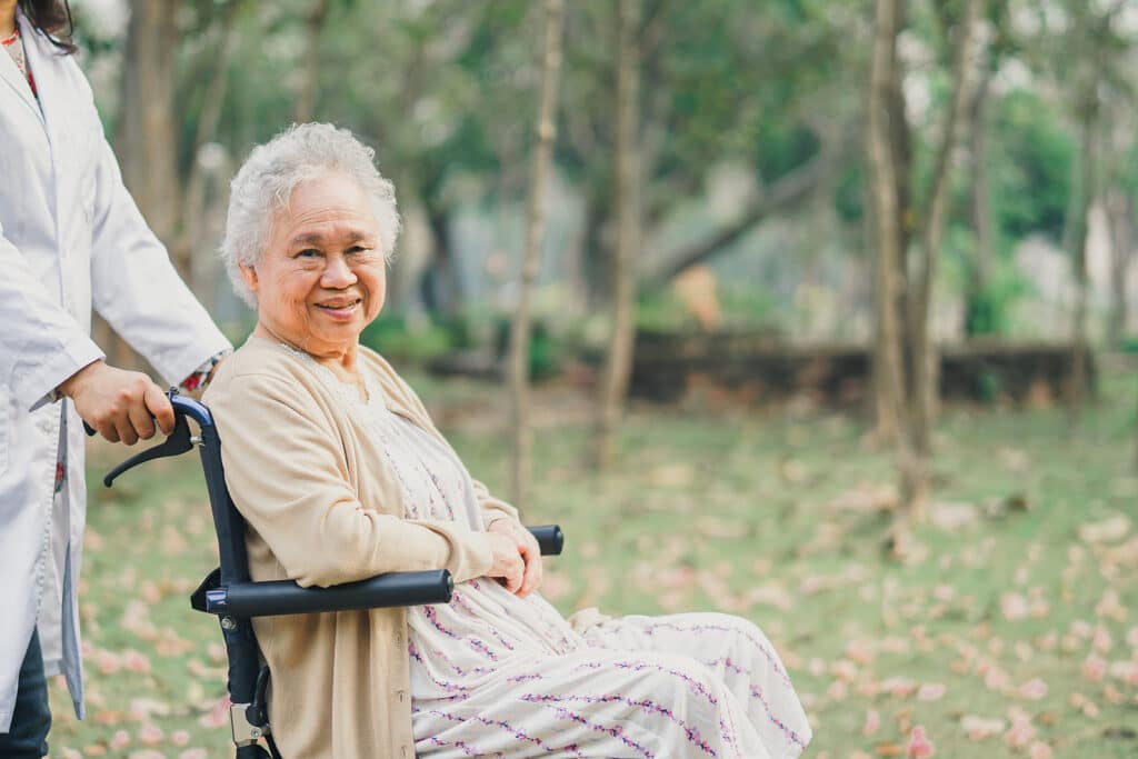What happens when an elderly person is discharged from the hospital?